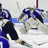 3/18/2017 Mike Orazzi | Staff<br /> Hall-Southington's Zachary Monti (36) during the CIAC 2017 State Boys Ice Hockey Tournament Division III Finals at Ingalls Rink in New Haven Saturday.