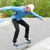 051017  Wesley Bunnell | Staff  Dan Dolan practices on his skateboard at Stanley Quarter Park on Wednesday afternoon.