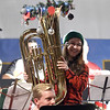 12/16/2017 Mike Orazzi | Staff<br /> Maggie Lesnik during the 3rd Annual Tuba Christmas at Trinity-On-Main in downtown New Britain Saturday.