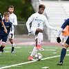 10/16/17  Wesley Bunnell | Staff<br /> <br /> Middletown vs Plainville boys soccer at Plainville High School on Monday afternoon. Plainville's Dane Stephens (9).