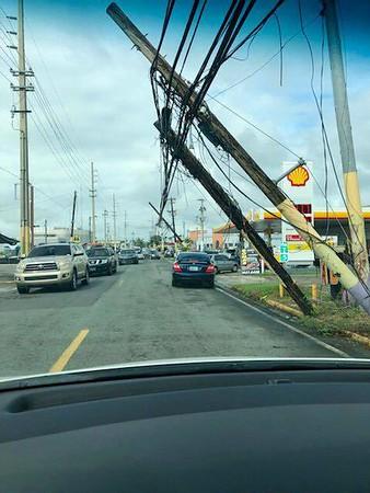 power pole on line