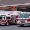 120716 Wesley Bunnell | Staff<br /> Fire trucks sit outside of the Plainville Fire Department.