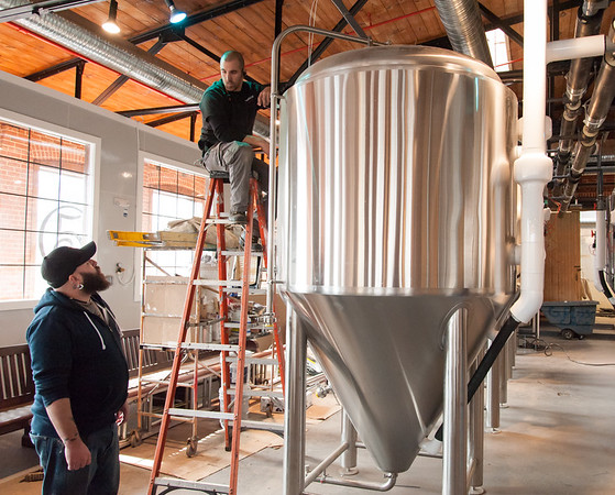 02/09/18  Wesley Bunnell | Staff  Work continues on Friday afternoon at Five Churches Brewing at 193 Arch St in New Britain in anticipation of its grand opening that is yet to be determined.