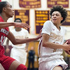 02/22/18  Wesley Bunnell | Staff<br /> <br /> New Britain boys basketball defeated Manchester 60-52 on Thursday night at New Britain High School. Jamani Eaton (4).