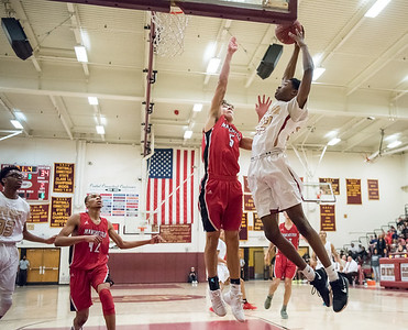 02/22/18  Wesley Bunnell | Staff  New Britain boys basketball defeated Manchester 60-52 on Thursday night at New Britain High School. Gabriel Yopp (33).