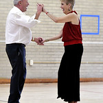 12/13/2016 Mike Orazzi   Staff Angela Marie Russo and Ray Pelletier while dancing at the Bristol Senior Center Tuesday afternoon.
