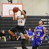 011017  Wesley Bunnell | Staff<br /> <br /> E.C. Goodwin Tech boys basketball vs Wilcox Tech on Tuesday evening at E.C. Goodwin High School. Josh Peeples (15)