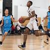 02/02/18  Wesley Bunnell | Staff<br /> <br /> Innovation boys basketball vs MLC on Friday evening at Innovation High School. Lenny Okonya (23).