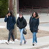 03/21/18  Wesley Bunnell   Staff<br /> <br /> New Britain High School students walk down the sidewalk together on early dismissal due to the nor'easter expected later in the day on Wednesday.