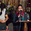 03/22/18  Wesley Bunnell | Staff<br /> <br /> A press conference was held at the First Congregational Church of Old Lyme on Thursday night in support of Malik Naveed Vin Rehman and Zahida Altaf who have taken sanctuary in the church after being ordered by Customs Engorcement (ICE) to leave the United States by March 19th. Malik Naveed Rehman, L, holds 5 year old daughter Roniya who is a U.S. citizen as his niece Roshanay Tahir speaks to the crowd.  Zahida, far right, wipes away her tears.