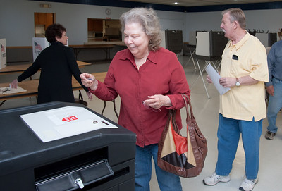 04/24/18  Wesley Bunnell | Staff  Berlin residents voted Tuesday on a proposed 2018-19 $43.9 million education budget and $45.6 million general government budget. Madeline Sullivan enters her ballot into the tabulator at The American Legion Post 68 voting location.