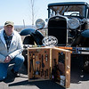 04/21/18  Wesley Bunnell | Staff<br /> <br /> Jack Zolnick poses with his trophy for best Ford Model A featuring a rare original took kit at the Klingberg Family Center. The Klingberg Vintage Motorcar Series held their April event on Saturday with a focus on the Ford Model A.