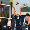 060617 Wesley Bunnell | Staff<br /> <br /> Newington boys volleyball defeated Joel Barlow at Kennedy High School in Waterbury in a semi final game to advance to the championship game to be played on June 8. Evan Metzger (2)