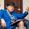 04/03/18  Wesley Bunnell | Staff<br /> <br /> CCSU President Dr. Zulma Toro interviewed in her office on Tuesday April 3.