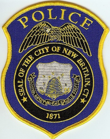 New britain connecticut ct police sheriff patch city seal beehive.