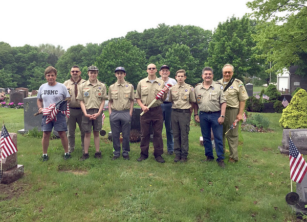 Boyscouts Help Flags