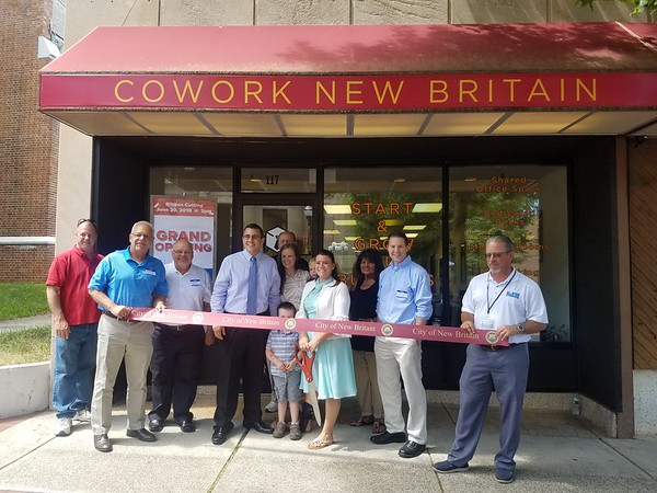 Ribbon cutting of CoWork New Britain