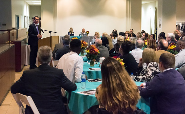 10/18/18  Wesley Bunnell | Staff  CMHA held their 2018 Annual Meeting at their new location at on Main St in New Britain on Thursday evening featuring a special award to Governor Dannel Malloy for his help in procuring their new building. Governor Malloy shown speaking to the audience.