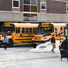 021617  Wesley Bunnell | Staff<br /> <br /> Students at New Britain High School board their buses on Thursday Feb. 16.