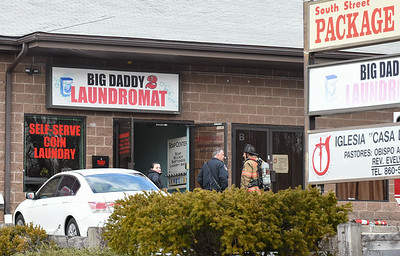 030317  Wesley Bunnell | Staff  A fire broke out on Friday March 3 at the Big Daddy 2 Laundromat at 145 Stanley St.