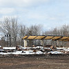 021617  Wesley Bunnell | Staff<br /> <br /> Remnants of the old Berlin Train Station lie in a pile next to the new construction on Thursday Feb. 16. A single door to the old station still stands to the left of the photo.