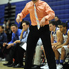 1/15/2011 Mike Orazzi | Staff<br /> Plainville High School Boys Basketball coach Marc Wesoly at PHS on Saturday night.