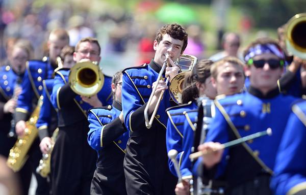 Newington parade 2016 NHS Marching Band