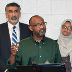 063017  Wesley Bunnell | Staff  Area Muslim leaders and local officials held a press conference Friday at noon in solidarity after a possible hate crime occurred on Arch St in New Britain th ...