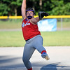 062617  Wesley Bunnell | Staff<br /> <br /> Bristol defeated Berlin on Monday evening in Plainville to claim the Little Leage District 5 Softball Championship. Berlin pitcher Hailey Wiezcorek (32).