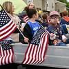 052917  Wesley Bunnell | Staff<br /> <br /> Plainville held their annual Memorial Day Parade on Monday morning followed by a memorial unveiling dedicated to Gold Star Families at Veterans Memorial Park. Cub Scout Pack 49 rides by on their parade float.