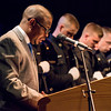 072717  Wesley Bunnell | Staff<br /> <br /> The 13th Training Session of the Regional Satellite Basic Recruit Academy graduated on Thursday afternoon at Trinity-on-Main in New Britain. Pastor Thomas A. Mills Jr. gives the benediction.