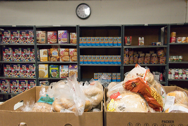 051917  Wesley Bunnell   Staff  Two boxes were all that was left of the bread before the end of day at the HRA Food Pantry in Osgood Heights Park on Friday afternoon after a rush that morning by area residents.