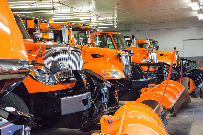 01/17/19  Wesley Bunnell | Staff  Berlin snow plows sit in the town garages on Thursday afternoon.
