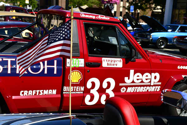 9/21/2019 Mike Orazzi | Staff A Jeep Comanche pickup truck on display during the New Britain Downtown District's 13th annual car show on Saturday.
