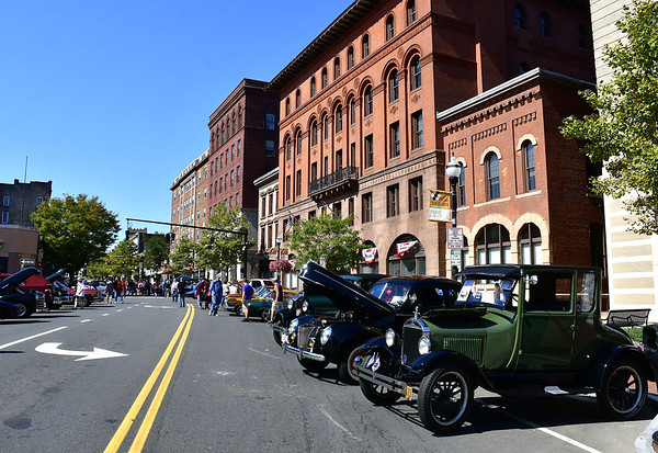 9/21/2019 Mike Orazzi | Staff The New Britain Downtown District's 13th annual car show on Saturday.