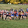 101916  Wesley Bunnell | Staff<br /> <br /> The CCC Cross Country Championships were held at Wickham Park in Manchester on Wednesday afternoon. New Britain's Shaelyn Pacheco, #878, who placed 11th overall is shown towards the front of the pack at the beginning of the girls varsity race.