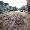 090116  Wesley Bunnell | Staff<br /> <br /> A view of Jubilee St looking towards East St on Thursday evening. The street was recently milled and selected to be repaved due to many potholes.