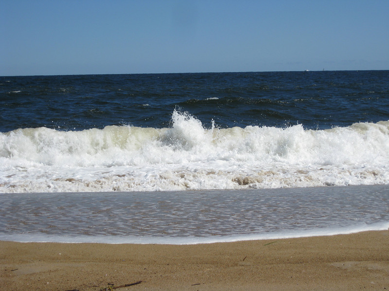 It was a perfect day to sit at the beach and watch the waves.