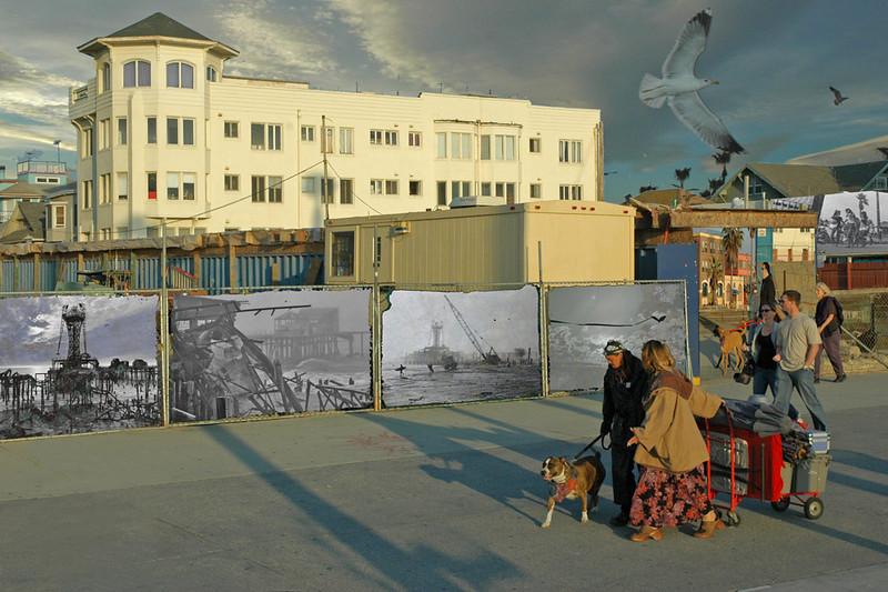 Thornton Tower-Couple w Dog & Cart-My POP Images on Fence-Smug170
