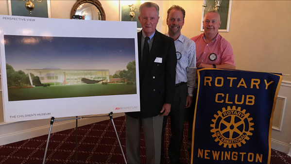 Michael Werle of Children's Museum speaks at Newington Rotary 2017