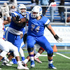 11/4/17  Wesley Bunnell | Staff<br /> <br /> CCSU football defeated St. Francis 28-10 in a home game at Arute Field. OL Connor Mignone (74).