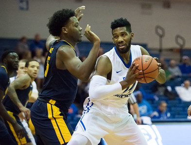 11/30/17   Wesley Bunnell | Staff  CCSU Men's Basketball defeated North Carolina A&T on Thursday evening at Derrick Gymnasium in New Britain. Deion Bute (14).