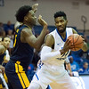11/30/17   Wesley Bunnell | Staff<br /> <br /> CCSU Men's Basketball defeated North Carolina A&T on Thursday evening at Derrick Gymnasium in New Britain. Deion Bute (14).