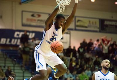11/30/17   Wesley Bunnell | Staff  CCSU Men's Basketball defeated North Carolina A&T on Thursday evening at Derrick Gymnasium in New Britain. Joe Hugley (21).