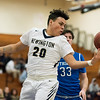 01/16/18  Wesley Bunnell | Staff<br /> <br /> Newington High boys basketball was defeated at home by Soutington on Tuesday evening 52-44. Julian Ortiz (20).