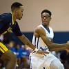 11/30/17   Wesley Bunnell | Staff<br /> <br /> CCSU Men's Basketball defeated North Carolina A&T on Thursday evening at Derrick Gymnasium in New Britain. Mustafa Jones (3).