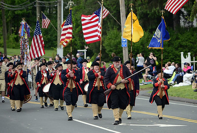 5/24/22014 Mike Orazzi | Staff The Moodus Drum & Fife Corps during the Newington Memorial Day parade on Saturday.
