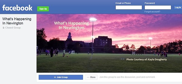 What's happening page