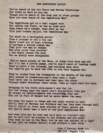 John Provini Poem