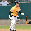 042717  Wesley Bunnell | Staff<br /> <br /> The New Britain Bees vs the Lancaster Barnstormers played on Thursday evening. Conor Bierfeldt (28) with a deep fly ball to right center field.